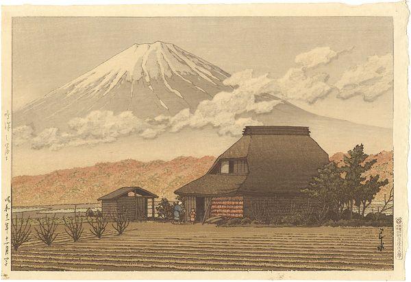 Mt.Fuji, Narusawa by Kawase Hasui / 鳴澤之冨士 川瀬巴水
