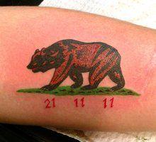 California Bear Tattoo on Arm | Bear Flag Museum