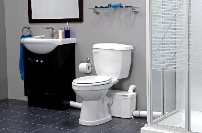 Basement Bathroom Addition A Source Of Inspiration For Installing A Toilet Pump Or Grinder