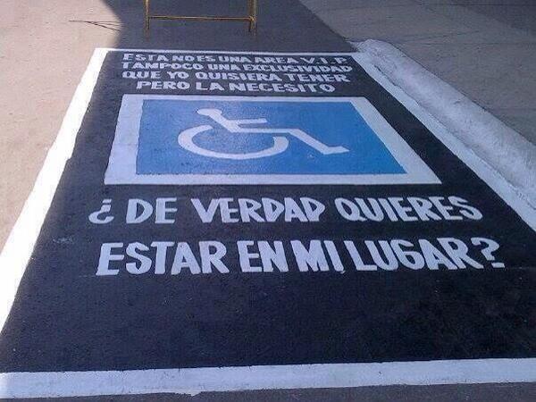Campaña para respetar a las personas con discapacidad.