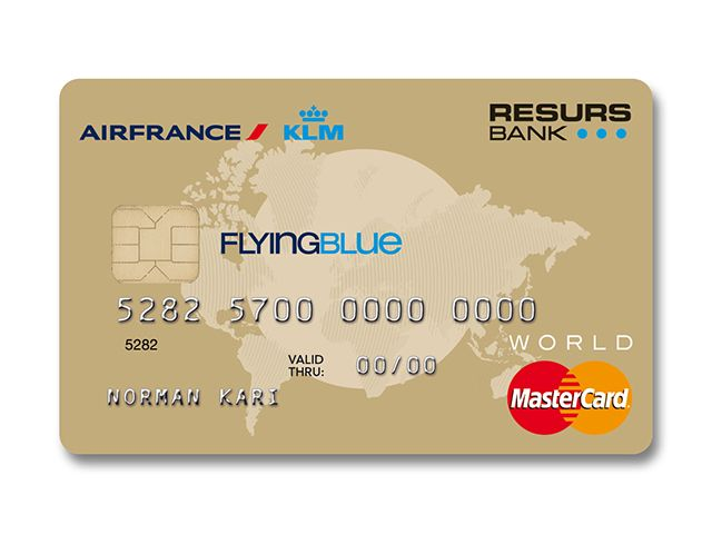 Air France / KLM | Flying Blue Mastercard Gold | Resurs Bank Norway