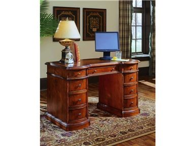 Shop for Hooker Furniture Cherry Knee-Hole Desk-Bow Front, 299-10-301, and other Home Office Desks at McArthur Furniture in Calgary, AB, Canada. This desk is crafted using hardwood solid with cherry veneers, it features a leather top.