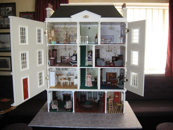 Big doll houses for sale small wonders miniatures large for Big modern dollhouse