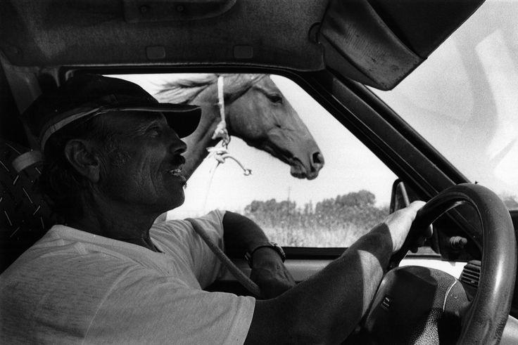 Tuili, luglio 2006. Giovanni, pastore, mentre porta al guinzaglio un suo cavallo.  ©Angelo Antolino www.angeloantolino.com