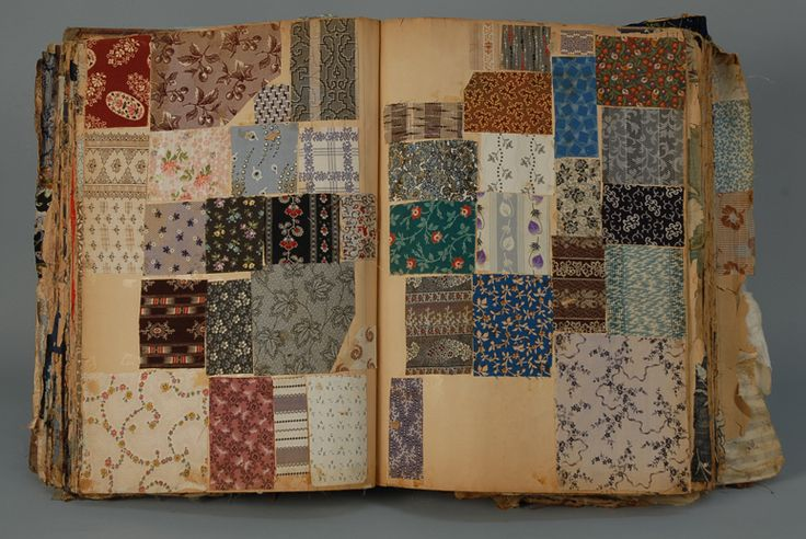 1850-1915 fabric sample book