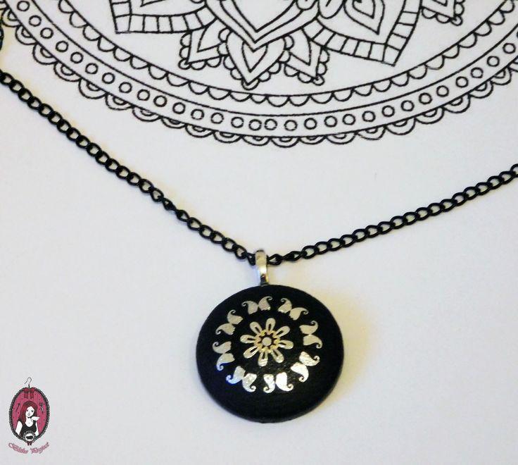 Black Mandala Necklace  My website: http://blitheproject.hu/ Facebook: https://www.facebook.com/blitheproject