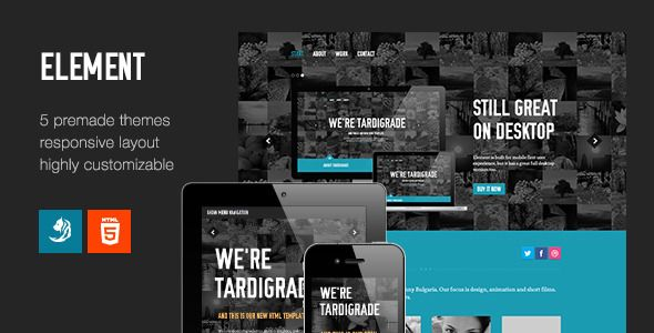 Element - Flexible One Page Template  #themeforest