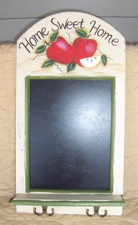 Image detail for -... Apple Slate Message Board Wall Shelf Apple Decor Home Accents Country