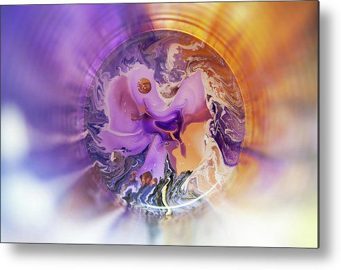 Time Vortex Metal Print by Jenny Rainbow.  All metal prints are professionally printed, packaged, and shipped within 3 - 4 business days and delivered ready-to-hang on your wall. Choose from multiple sizes and mounting options.
