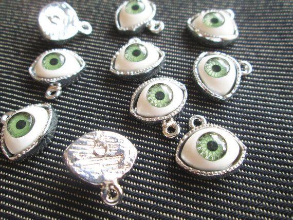 4 PCS Green Evil Eye Evil Eye Pendant Charm от ChokkoThings
