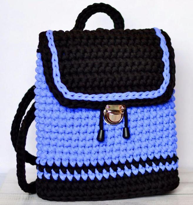 вязаные сумки из трикотажной пряжи крючком схемы