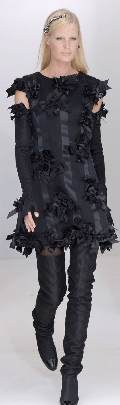 Chanel  ~ Black Mini Dress w Bow Details