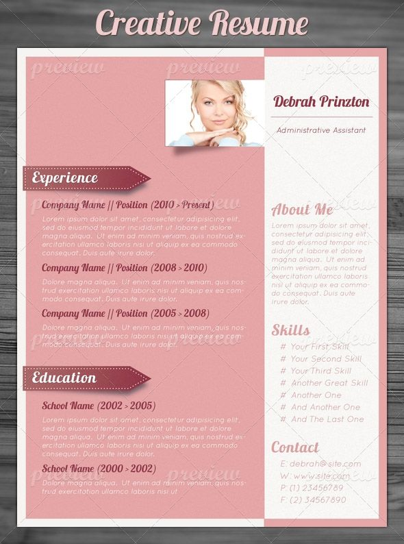 21 best ☁ CVs Creativos images on Pinterest Creative resume - free creative word resume templates