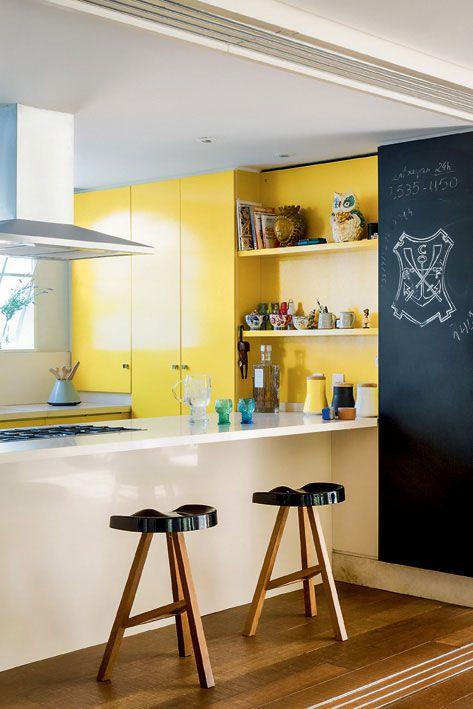 yellow kitchen #decor #cozinhas