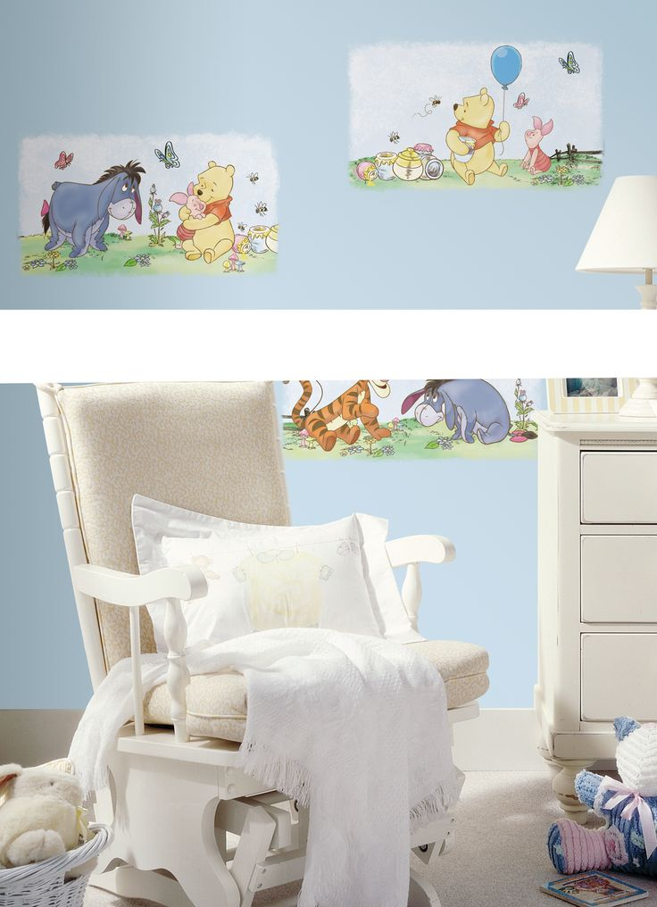 Beautiful RoomMates Winnie the Pooh Poster Peel u Stick Wall Decals