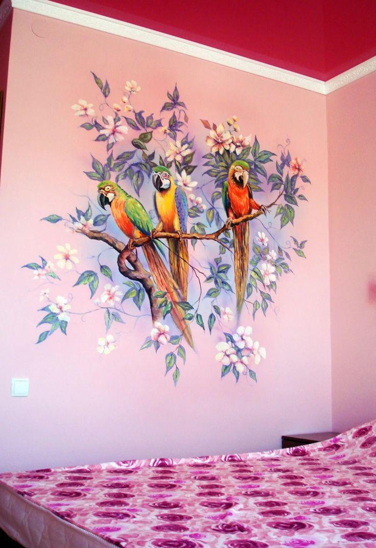 Красивые рисунки на стену дома даже будут