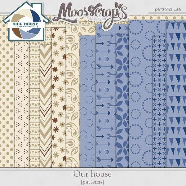 Digital Art :: Paper Packs :: Our House - patterns