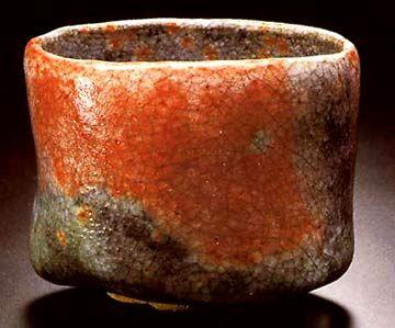 """Kichizaemon XV (*1949) """"Miyamaji - Bergpass"""" 1981 H.: 9,6 cm, D.: 11,4 - 11,7 cm Zum Vergrößern: Bild anklicken"""