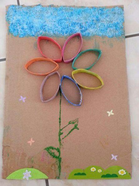 Fleur avec les rouleaux