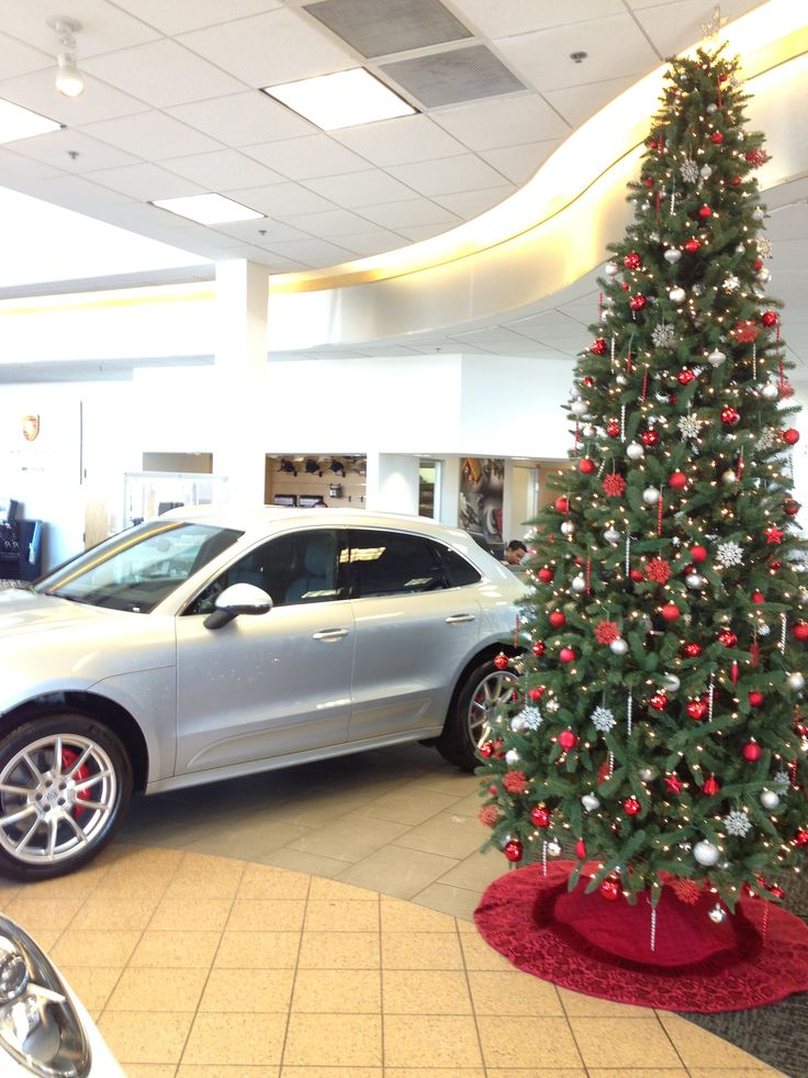 this is our 12ft christmas tree for jime ellis porsche they chose our red - Christmas Tree Rental