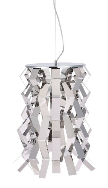 FISSION CEILING LAMP Reflective strips of chrome bent and arranged to form our Fission ceiling lamp ... http://www.homedesignhd.com/collections/lighting/products/fission-ceiling-lamp