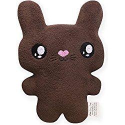 Plush Chocolate Brown Easter Bunny, Kawaii Style Bunny Rabbit Stuffed Animal, Personalized Baby Gift, Customizable