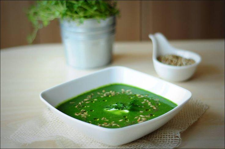 Ta zupa to bogactwo magnezu i zdrowych kwasów tłuszczowych, a smak zaspokoi gust każdego miłośnika zielonych warzyw i nie tylko. Pestki słonecznika idelanie komponują się z zupą i nadają jej wyrazistości.