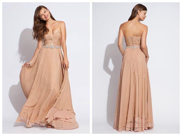 Strapless Chiffon Sweetheart Criss Bodice Long Prom Dresses http://www.ckdress.com/strapless-chiffon-sweetheart-criss-bodice-long-  prom-dresses-p-283.html
