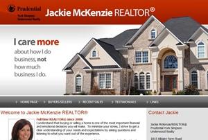 Jackie McKenzie Realtor website by Gravity Marketing, Inc.