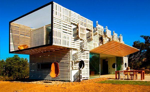 cabane en palette de bois