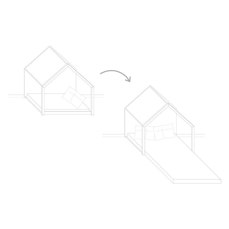 """Kit modifica lettino """"tutti giù per terra"""" permette, in poche mosse, di trasformare il lettino in un letto francese, nelle misure 140 x 200 cm."""