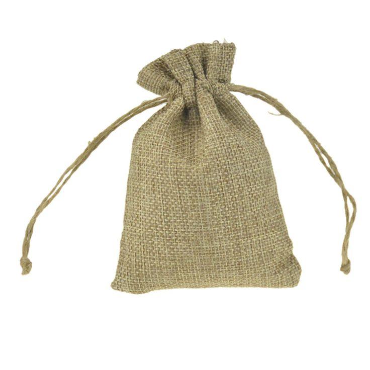 8.5x11.5cm 50Pcs/Lot Handmade Burlap Jute Drawstring Bags for Christmas Gift Candy Storage/ Wedding Decor/Soap