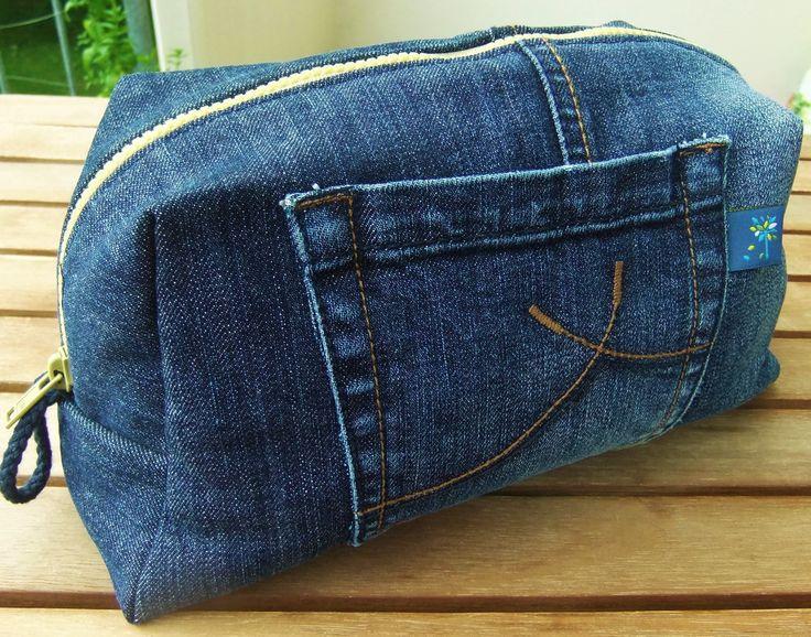 upcycling denim DIY Big Vicky Pattydoo Jeans Kosmetiktasche Kutlurbeutel