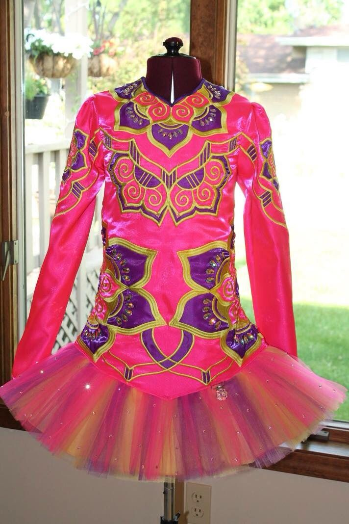 *IDentify You*Irish Dance Solo Dress Costume*  this reminds me of the Mannish Arora designs I like so much.