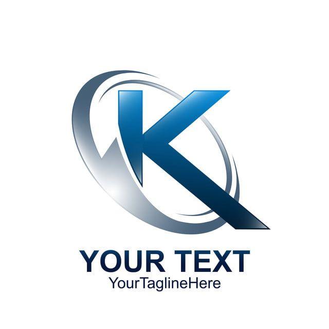 الحرف الأول ك شعار قالب ملون موجة دائرة رمادية زرقاء K Logos Logo Design Free Templates Letter Logo Design