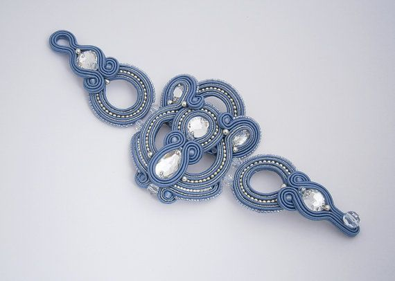 Hey, I found this really awesome Etsy listing at https://www.etsy.com/listing/187293866/montana-blue-soutache-bracelet-with
