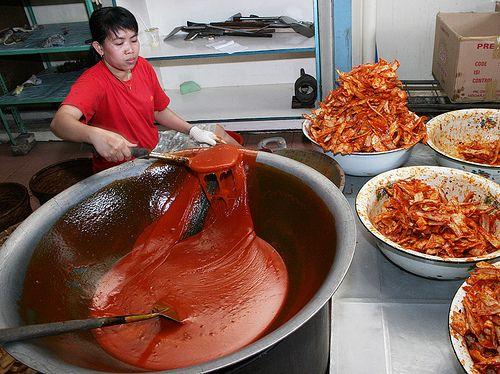 Making Keripik Balado. This chips are extremelly hot. This chips can be found at Padang, west Sumatra