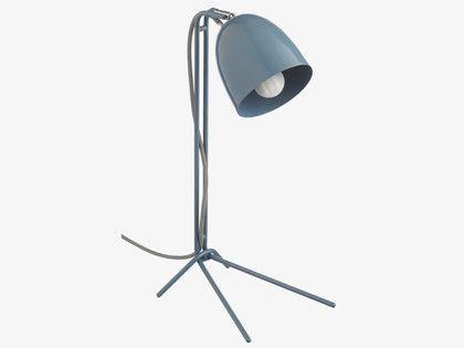 GRAYSON BLUES Metal Blue metal desk lamp - wc_fulfil_location_B- HabitatUK