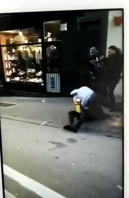 Footage is spreading around Belgium this week showing Manchester City loanee Jason Denayer getting involved in a street fight outside a bar in Brussels