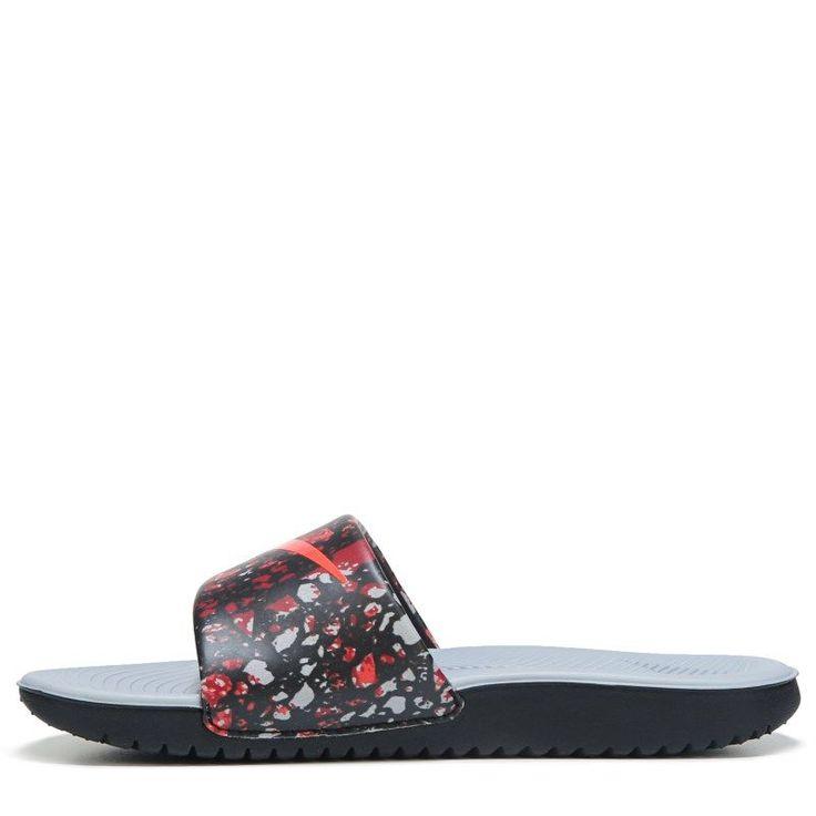 Nike Kids' Kawa Print Slide Sandal Pre/Grade School Sandals (Black/Crimson/Wolf G) https://tmblr.co/ZI6C_c2PBqb8b