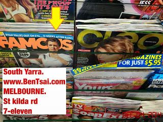 Branded Magazine loses out by not displaying conspicuous headline beside title   Cleo : Cleo Australia Magazine .food-7-ELEVEN Magazines Management-Unable-To-Action Melbourne Retail