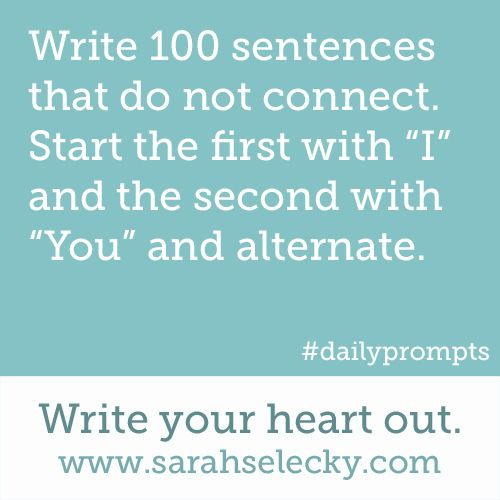 daily creative writing prompts