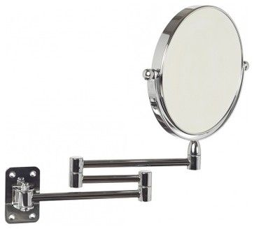 Chrome Wall Mounted Swing Arm Mirror x5 Magnification - contemporary - Makeup Mirrors - hsw.com.au