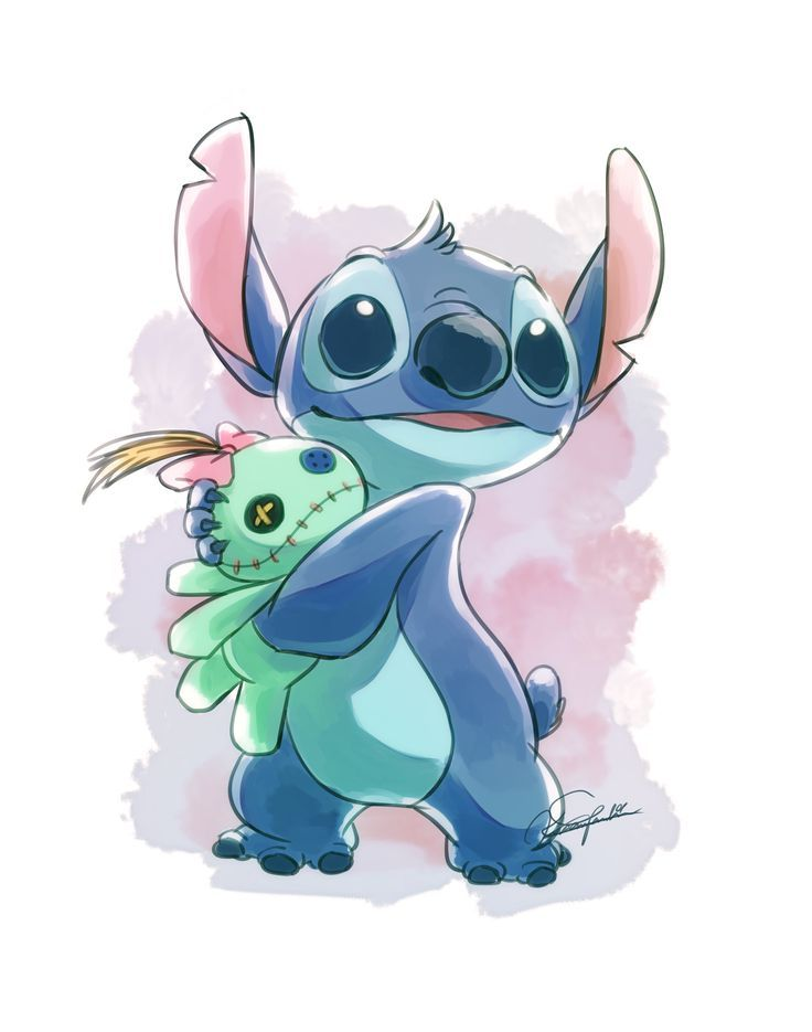 Klicke Um Das Bild Zu Sehen Stitch And Scrump Scrump Stitch Stitch Drawing Cute Disney Drawings Disney Drawings