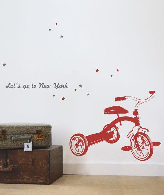 Adhesivo decorativo con un triciclo de estilo vintage for Se necesita montador de muebles