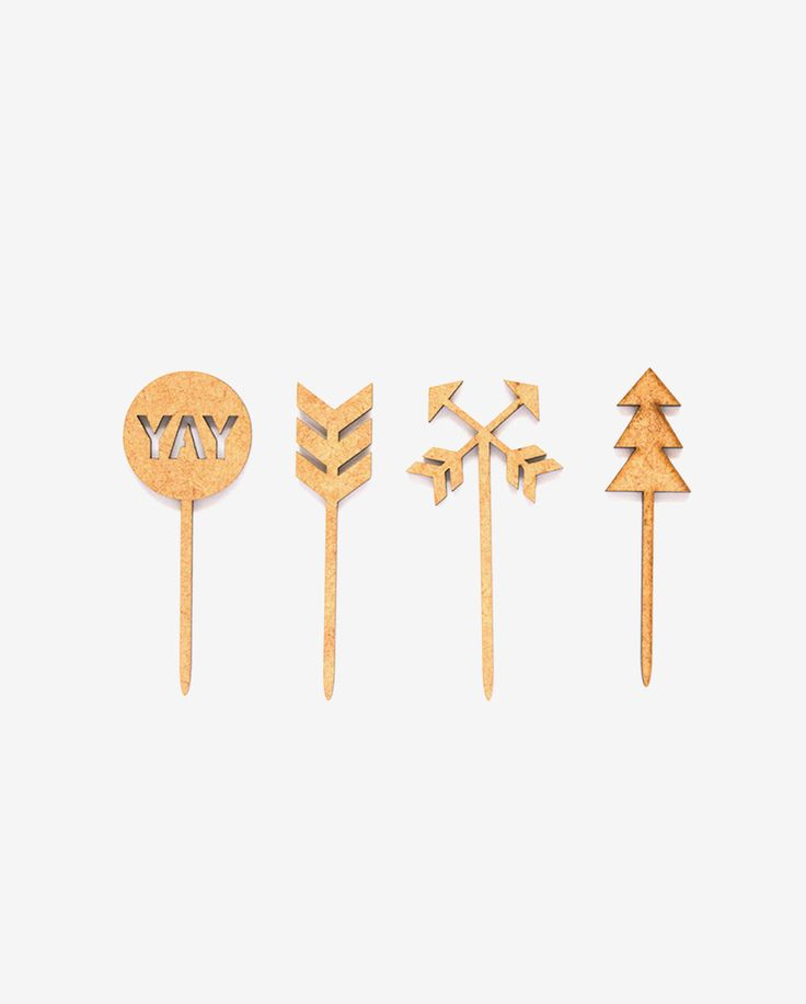 Woodlands Cupcake Toppers (Set of 4)