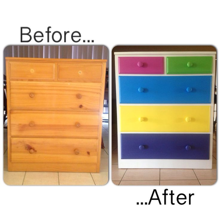 Rainbow Chest of Drawers DIY