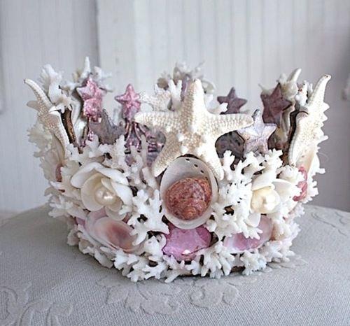 Mermaid Crown || Hot Glue Shells Over a Cheap Plastic Princess Crown