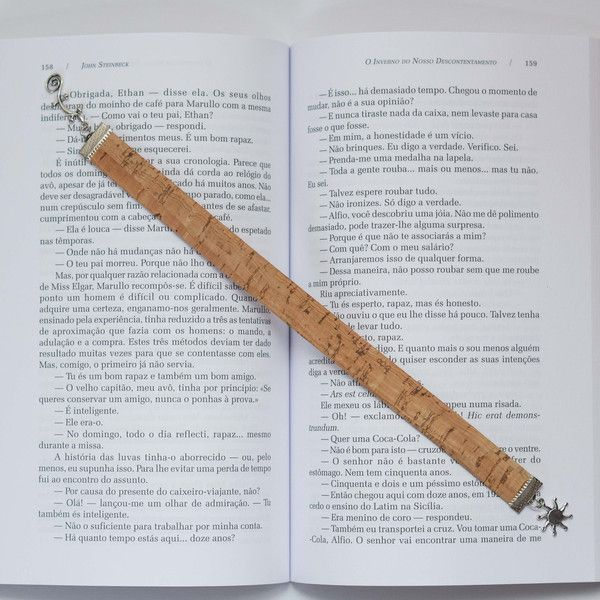 Other – Cork bookmark with sun & salamander charm – a unique product by craftsforyou on DaWanda