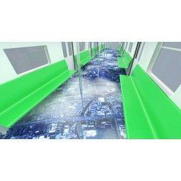 Décoration sol grand format pour couloir, métro - La terre vue du ciel